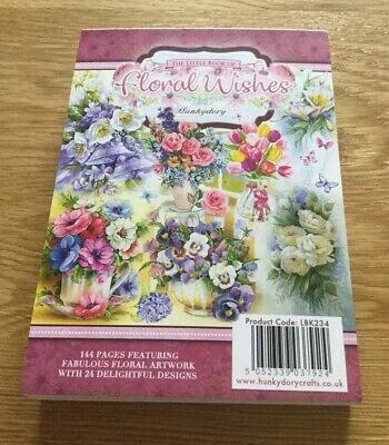 """Hunkydory A6 Little Book /""""Floral Wishes/"""" 24 Toppers Sample Pack"""