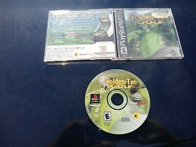 Peter Jacobsen's Golden Tee Golf Sony PlayStation 1 PS1 TESTED COMPLETE