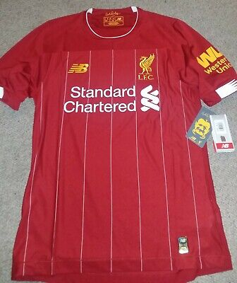 Liverpool 19-20 Home New Balance Elite Shirt Soccer Jersey Player Issue M Salah