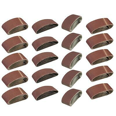 20Pk Mixed 40, 60, 80, 120 Grit 60 X 400mm Sanding Belts Sanders - Fine, Coarse