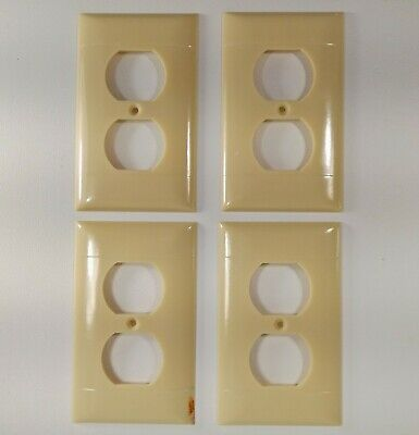 Sierra Electric Plug In Outlet Cover Plates 4 Pc P-8 Vintage