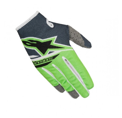 Alpinestars Radar Flight Motocross Gloves Green Anthracite Youth XSmall YXS SALE