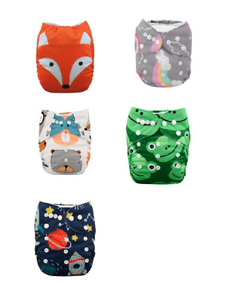 Alva Cloth Diaper(US Seller)(Fast Shipping)(NEW)(bamboo/cotton inserts)