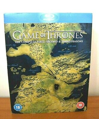 Game Of Thrones - Series 1-3 - Complete (Blu-ray, 2014, 15-Disc Set, Box Set)