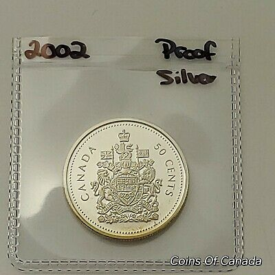 2002 Canada 50 Cents Coin - SILVER Proof - Ultra Heavy Cameo Coin #coinsofcanada