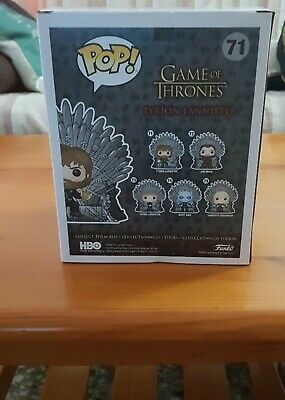 Figura Pop Game Of Thrones: Tyrion On Throne Figuras Tv Juego De Tronos