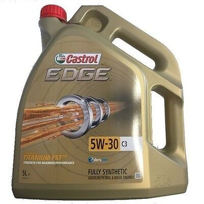 Castrol Edge 5w30 C3 Fully Synthetic Engine Oil 5L - VW, GM & Longlife (5 Litre)