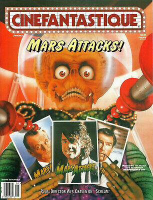 CINEFANTASTIQUE MAGAZINE Jan., 1997 MARS ATTACKS issue
