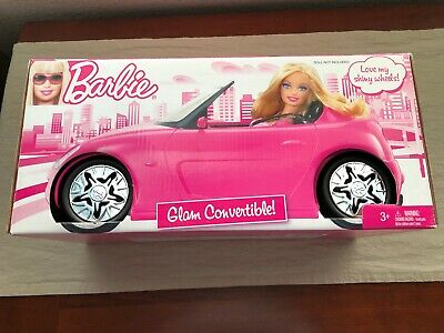 2009 BARBIE Pink GLAM CONVERTIBLE Vehicle SPORTS CAR with SHINY WHEELS - NRFB