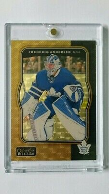 2017-18 OPC Platinum GOLDEN TREASURES 1/1 **SUPER RARE** Frederik Andersen LOT
