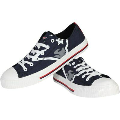 New England Patriots NFL Mens Big Logo Low Top Sneakers Shoes SIzes 9-11
