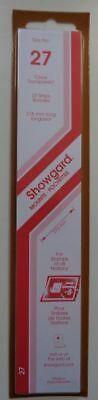 Showgard size 27 clear hingeless stamp mount NEW unopened pack 1st quality 215mm