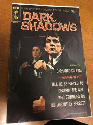 Dark Shadows #1 Gold Key Comics 1969 Poster included