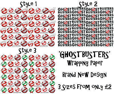 NEW 'GHOSTBUSTERS' Wrapping Paper, A1/A2/A3, 3 Styles to choose from! Film Movie