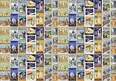 SEASIDE DESTINATIONS / VINTAGE POSTERS Wrapping Paper. sun shine sand summer
