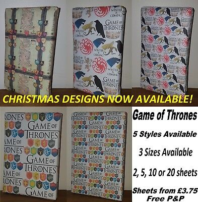 GAME OF THRONES Wrapping Paper - **inc CHRISTMAS** Westeros Map, birthday party
