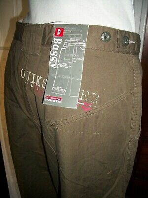 Pantalon leger QUIKSILVER 16 ans coton marron coupe baggy music in the air VH17