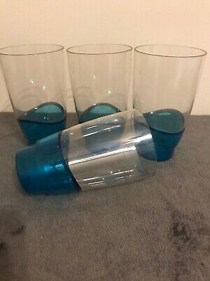 Tupperware Illusions Sheerly Elegant 2 Cup Tumblers Set Of 4