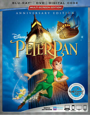 Peter Pan Anniversary Edition Bluray Dvd And Digital Brand New!