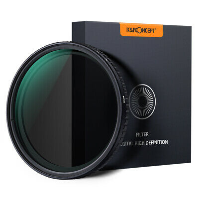 K&F Concept 77mm Slim ND Filter ND8 to ND128 Fader Variable Neutral Density NO X