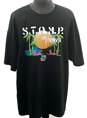 Stomp In Paradise Major Wrestling Figure Podcast Shirt 3XL Zack Ryder Hawkins
