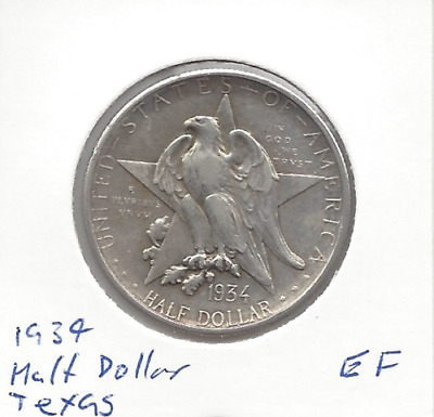 1934 USA Half Dollar Texas Commemorative EF
