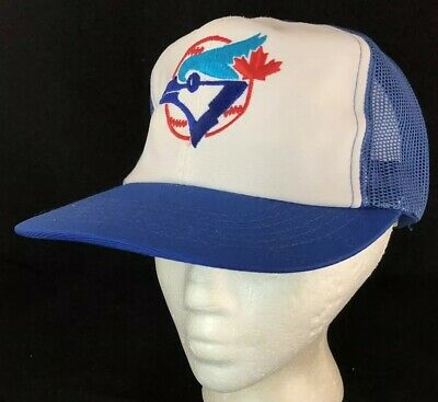wholesale dealer 6ba31 b6dac Vtg Toronto Blue Jays Mesh Trucker Hat Ted Fletcher SnapBack Baseball Cap  Sports