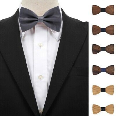 Men Wood Bowtie Stylish Bow-tie Parties Tie Accessory Male Formal Wooden Bow Tie