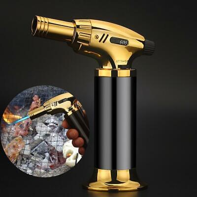 Flame Outdoor BBQ Barbecue Butane Micro Torch Windproof Gas Cigar Lighter Tools