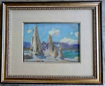 Arny Karl Contemporary Plein-air Painting from 1970s of Mono Lake Framed