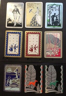 Swap Playing Card - Silver & Gold  -Vintage Retro Antique Modern RARE