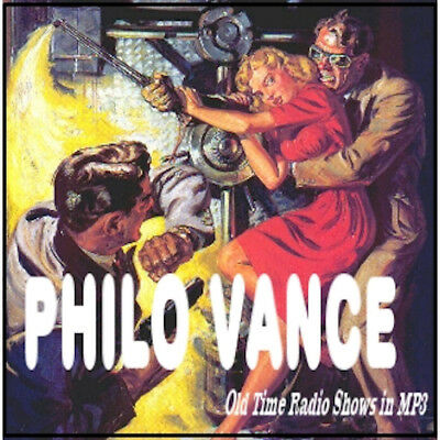 PHILO VANCE - 95 Shows Old Time Radio In MP3 Format OTR On 1 DVD
