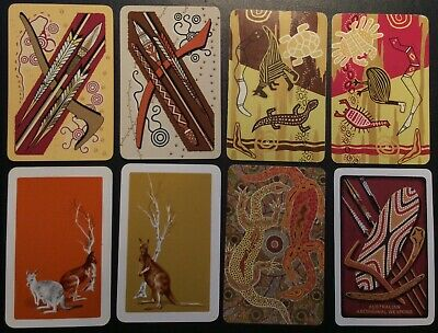 Swap Playing Cards - Aboriginal Theme - Bulk Vintage Retro Antique