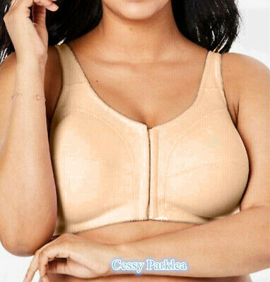 """""""Comfort Choice""""100% Cotton Front Closure Wire-Free Full Coverage Bras Plus Size"""