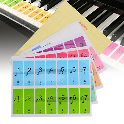 88Key Electronic Keyboard Piano Key Note Removable Stickers Labels For Beginner