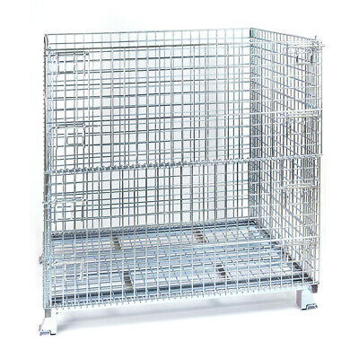 "Folding Wire Container 40 x 48 x 42"" 4000 Lbs Cap. Wire Mesh 2 x 2"""
