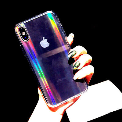 Luxury Rainbow Glitter Phone Case For iPhone 8Plus 7 XS Max XR X Cool Laser Case