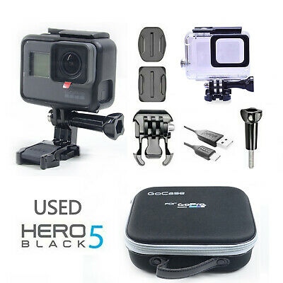 Used GOPRO HERO5 BLACK 12 MP WATERPROOF 4K WiFi 501 CAMERA + Waterproof case