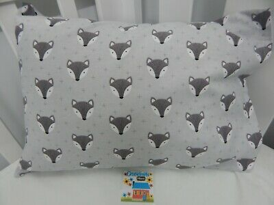 Pillowcase Flannelette Cot Toddler Size Fox Face 100% Cotton Snuggly Warm!