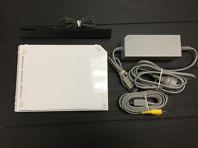 Nintendo Wii Console ONLY White - With Gamecube Controller Plugs - Incl Cables