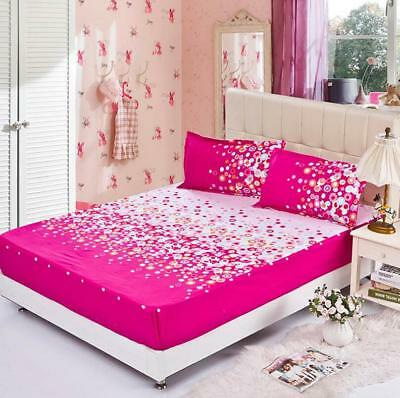 Dazzling Bubble Cotton Bed Sheet Fitted Sheet Pillowcases Double Queen King Size