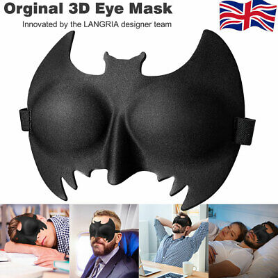 3D Eye Mask Travel Memory Foam Soft Cover Sleep Plane Blindfold Blinder Blackout