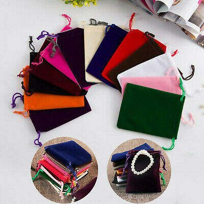 10pcs Velvet Drawstring Pouches Wedding Favors Bags Jewelry Ring Gift Party Bag