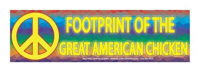 """Footprint Of The Great American Chicken 10"""" X 3"""" Color Sticker"""