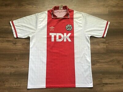 Vintage Ajax Amsterdam Holland 1988/1990 Home Football Shirt Jersey Maglia Umbro