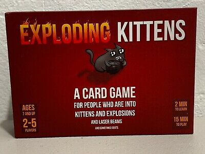 Exploding Kittens Card Game - Original Edition Complete W/ All Cards