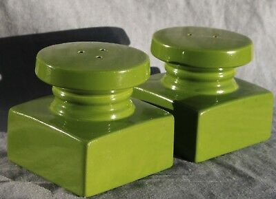 RARE Mid-century modern NOS cube style Salt & Pepper ceramic made in Japan