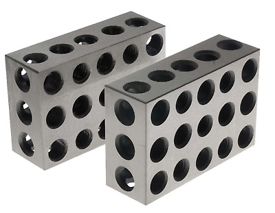 BL-123 Pair of 1 x 2 x 3 Precision Steel 1-2-3 Blocks by 1-2-3 Blocks