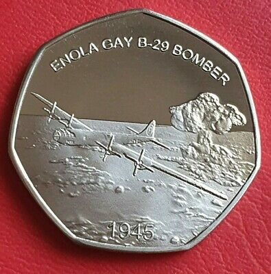 2019 B-29 Bomber Hiroshima Commemorative Coin/50P Fifty Pence Collectors
