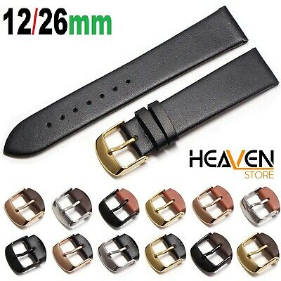 Mens Ladies Soft Leather Best Watch Straps 8mm 10mm 12mm 14mm 16mm 18mm 20mm 22m